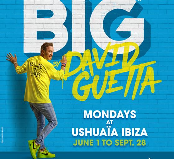 Ushuaïa Ibiza reveals the first residency  2020, 'BIG' by David Guetta!